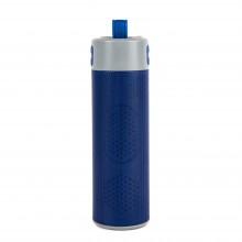 "Bluetooth колонка с зарядным устройством(2000mAh) и моноподом""Turbo Tube"",синий с серым,18х5,5х5,3см"