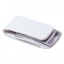 """USB flash-карта """"Lerix"""" (8Гб), белый, 6х2,5х1,3см, металл, искусственная кожа"""