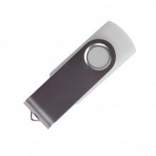 "USB flash-карта ""Dot"" (8Гб), белый, 5,5х2х1см,пластик металл"