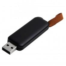 USB flash-карта STRAP (16Гб), черный, 5,6х2,3х0,8см, пластик