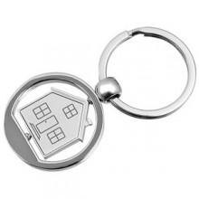 """Брелок """"Дом""""; серебристый; 3,5х7,4х0,2 см; металл; лазерная гравировка"""