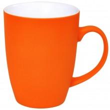 """Кружка """"Sweet"""" с прорезиненным покрытием, оранжевый, 350 мл, фарфор"""