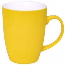 """Кружка """"Sweet"""" с прорезиненным покрытием, желтый, 350 мл, фарфор"""