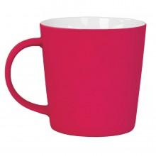 """Кружка """"Bali"""" с прорезиненным покрытием, красный, 400 мл, фарфор"""