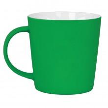 """Кружка """"Bali"""" с прорезиненным покрытием, зеленый, 400 мл, фарфор"""