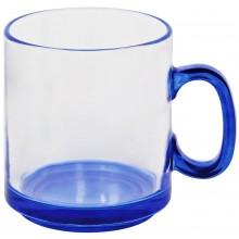 """Кружка """"Joyful"""",прозрачная с синим,300мл,стекло"""