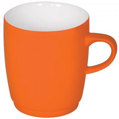 """Кружка """"Soft"""" с прорезиненным покрытием, оранжевая, 350 мл, фарфор"""