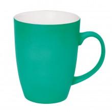 """Кружка """"Sweet"""" с прорезиненным покрытием, светло-зеленый, 350 мл, фарфор"""