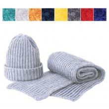GoSnow, вязаный комплект шарф и шапка, меланж