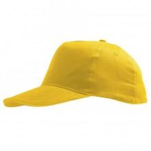 """Бейсболка """"Sunny Kids"""" 5 клиньев, желтый, 100% хлопок, 180г/м2"""