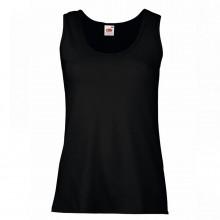 """Майка женская """"Lady-Fit Valueweight Vest"""", черный, 100% х/б, 160 г/м2"""