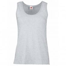 "Майка женская ""Lady-Fit Valueweight Vest"", серо-лиловый, 100% х/б, 160 г/м2"
