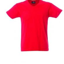 CUBA футболка V-вырез красный