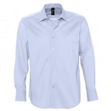 "Рубашка ""Brighton"", небесно-голубой, 97% хлопок, 3% эластан, 140г/м2"