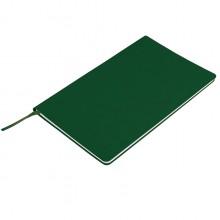 """Бизнес-блокнот """"Audrey"""", 130х210 мм, зеленый, кремовая бумага, гибкая обложка, в линейку"""