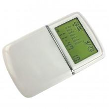 Калькулятор с календарем; белый; 6,2х10х1,5 см; пластик; тампопечать
