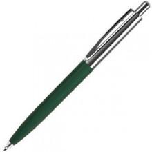 BUSINESS, ручка шариковая, темно-зеленый/серебристый, металл/пластик