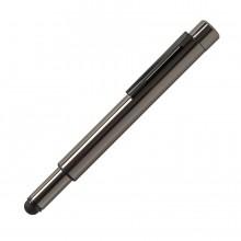 GENIUS, ручка с флешкой, 4 GB, колпачок, стальной цвет, металл
