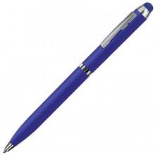 CLICKER TOUCH, ручка шариковая со стилусом для сенсорных экранов, синий/хром, металл