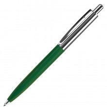BUSINESS, ручка шариковая, зеленый/серебристый, металл/пластик