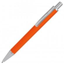 CLASSIC, ручка шариковая, оранжевый/серебристый, металл, черная паста