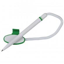 FOX SAFE TOUCH, ручка шариковая с держателем, зеленый/белый, пластик