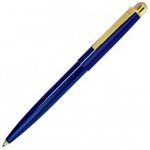 DELTA NEW, ручка шариковая, синий/золотистый, металл