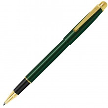 DELTA NEW, ручка-роллер, зеленый/золотистый, металл
