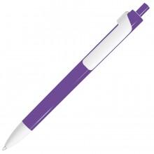 FORTE, ручка шариковая, фиолетовый/белый, пластик