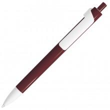 FORTE, ручка шариковая, бордовый/белый, пластик