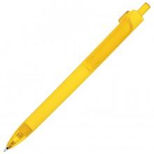 FORTE SOFT, ручка шариковая, желтый, пластик, покрытие soft