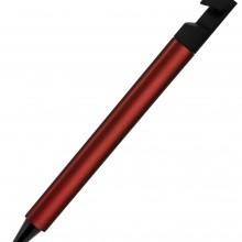 N5, ручка шариковая, бордовый/черный, пластик, металлизир. напыление, подставка для смартфона