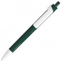 FORTE, ручка шариковая, темно-зеленый/белый, пластик