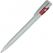 KIKI ECOLINE, ручка шариковая, серый/красный, экопластик