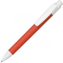 ECO TOUCH, ручка шариковая, красный, картон/пластик