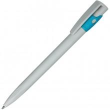 KIKI ECOLINE, ручка шариковая, серый/голубой, экопластик