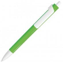 FORTE NEON, ручка шариковая, неоновый зеленый/белый, пластик