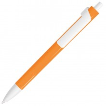 FORTE NEON, ручка шариковая, неоновый оранжевый/белый, пластик