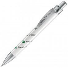FUTURA, ручка шариковая, белый/хром, пластик/металл
