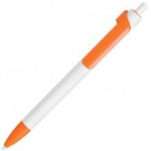 FORTE, ручка шариковая, белый/оранжевый, пластик