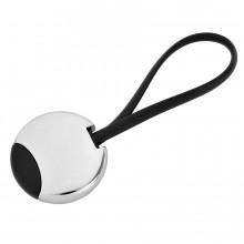 """Брелок """"Beat""""; черный, 3,5x3,5x0,6 см; металл; лазерная гравировка"""