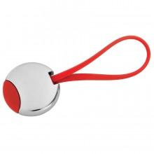 """Брелок """"Beat""""; красный, 3,5x3,5x0,6 см; металл; лазерная гравировка"""