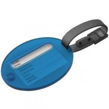 Бирка багажная; синий; 7,5х6х1 см; пластик; тампопечать