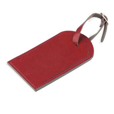 """Багажная бирка """"Tinted"""", 6,5*11,5 см, PU, красный с серым"""