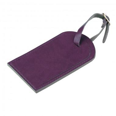 """Багажная бирка """"Tinted"""", 6,5*11,5 см, PU, фиолетовый с серым"""