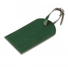 """Багажная бирка """"Tinted"""", 6,5*11,5 см, PU, зеленый с серым"""