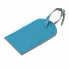 "Багажная бирка ""Tinted"", 6,5*11,5 см, PU, голубой с серым"