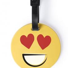 Багажная бирка GRAP(сердечко), желтый, силикон