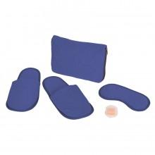 """Набор дорожный """"Релакс"""": маска, беруши, тапки; синий; 20х15 см; хлопок/нейлон"""