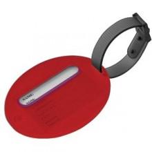 Бирка багажная; красный; 7,5х6х1 см; пластик; тампопечать